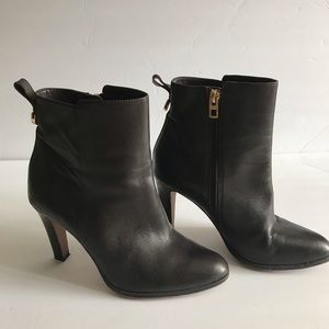 Coach Chocolate Brown Side Zip Ankle Booties